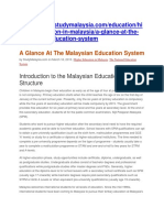 A Glance at the Malaysian Education System