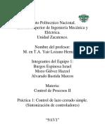 Practica 1 Control de Lazo Cerrado Simple (Sintonizacion)
