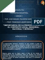 """Presentación frente a grupo """"Importancia de la productividad, en el contexto local, regional, nacional y mundial"""".pptx"""