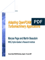 Adapting OpenFOAM for Turbomachinery Applications