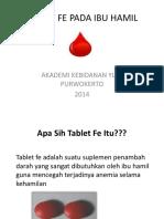 Tablet Fe Pada Ibu Hamil