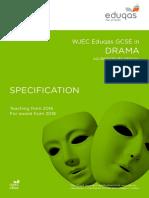 WJEC Eduqas GCSE Drama Specification