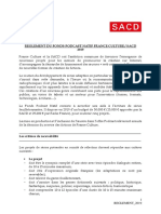 Fonds Podcast Natif Règlement 2019 France Culture - SACD