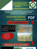 Comunidad, Poblacion y Especie