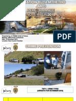 City of Johannesburg crime stats for November 2018 presentation