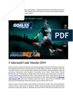 5 Alternatif Link Maxbet 2019