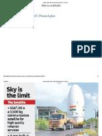 Cyclone Clouds ISRO's GSAT-29 Launch Plan - The Hindu