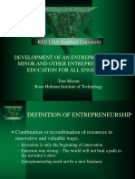 EshipEdforEng - DEVELOPMENT OF AN ENTREPRENEURSHIP MINOR AND OTHER ENTREPRENEURSHIP EDUCATION FOR ALL ENGINEERS