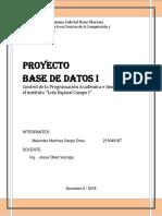 Informe Proyecto de BD-INF312