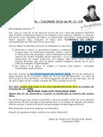 SETMANA CULTURAL – COLÒNIES 2019 de P5, CI i CM