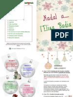 Programa de Nadal del 2018 de l'Escola Elisa Badia