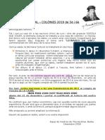 SETMANA CULTURAL – COLÒNIES 2019 de 5è i 6è