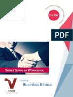 Part 4 Business Ethics Sedex Supplier Workbook