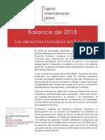 Balance de 2018. Los derechos humanos en España
