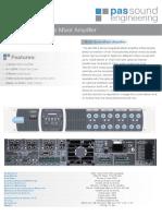 46-120 Multizone Mixer Amplifier