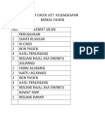 Form Check List Kelengkapan Penagihan