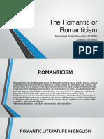 The Romantic or Romanticism