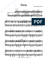 Sway - Piano