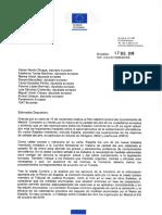 Carta de Respuesta Del Comisario Vella Sobre Madrid Central 17 12 2008