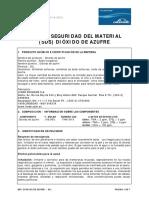 Hoja de Seguridad Dioxido de Azufre-so2