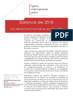 Informe Rights International Spain 2018