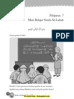 Pelajaran 7 Mari Belajar Surah Al-Lahab