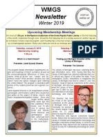 WMGS Newsletter Winter 2019