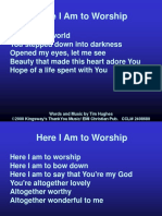 03-Here I Am to Worship