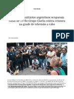 Ocupacao Jornal Argentina
