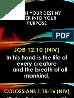 Reach Your Destiny Enter Into Your Purpose Bishop Wisdom 1st Service
