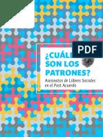 ¿Cuáles son los patrones? Asesinatos de Líderes Sociales en el Post Acuerdo.