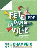 Dossier de Presse FV16 Champeix