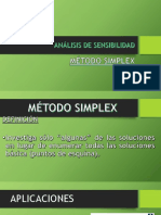Analisis de Sensibilidad-Metodo Simplex