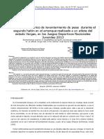 Analisis Biomecanico de Levantamiento de Pesas Durante