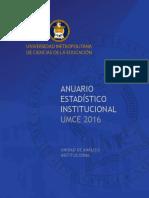 Anuario Estadistico Umce 2016