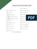 Formula Integral