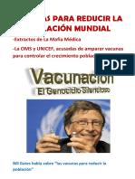Vacunas Para Reducir La Población Mundial
