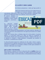 EDUCACIÓN Y EDUCADOR