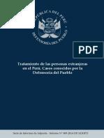 Defensoría Del Pueblo - Tratamiento de Las Personas Extranjeras en El Perú