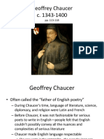 Intro to Chaucer p.p 9.26.11