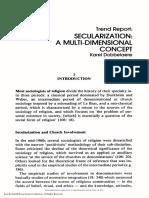 Dobbelaere, Karel - Secularization a Multi Dimensional Concept
