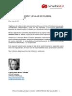 El Futuro de La Salud en Manos de Petro y Duque - Propuestas Oficiales - Consultorsalud Mayo 2018