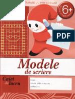 Modele de Scriere Caiet de Lucru Grupa Pregatitoare