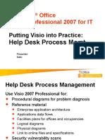 Visio 2007 IT Help Desk Process Management
