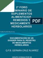 Exposición Dossier Medicamentos Herbolarios