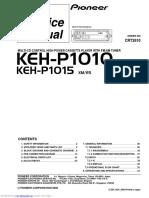 Manual de Servicio Pioneer KEH-P1010