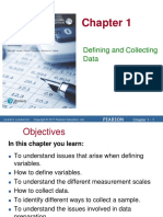 Chapter 1 Defining and Collecting Data