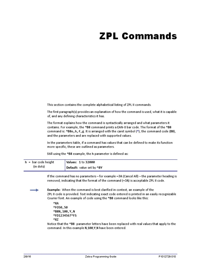 Programming Guide (for ZPL II, ZBI 2, Set-Get-Do, Mirror, WML) (en