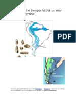 Hace Mucho Tiempo Había Un Mar Sobre Argentina
