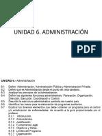 UNIDAD 6 Administración